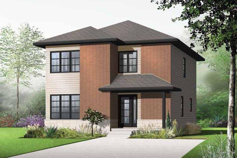 House Plan Design - Contemporary Exterior - Front Elevation Plan #23-2553