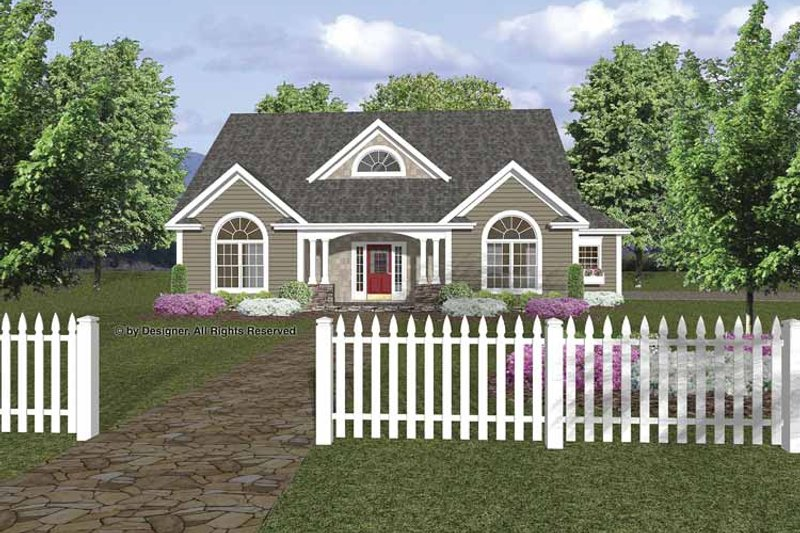 Traditional Exterior - Front Elevation Plan #56-667 - Houseplans.com