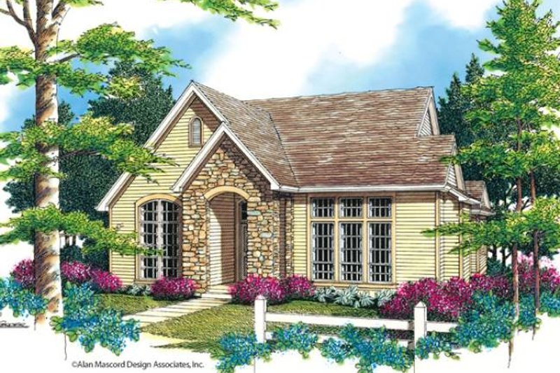 Cottage Exterior - Front Elevation Plan #48-519