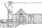 Cabin Style House Plan - 3 Beds 2 Baths 1306 Sq/Ft Plan #3-104 Exterior - Other Elevation