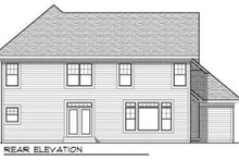 Dream House Plan - Traditional Exterior - Rear Elevation Plan #70-735