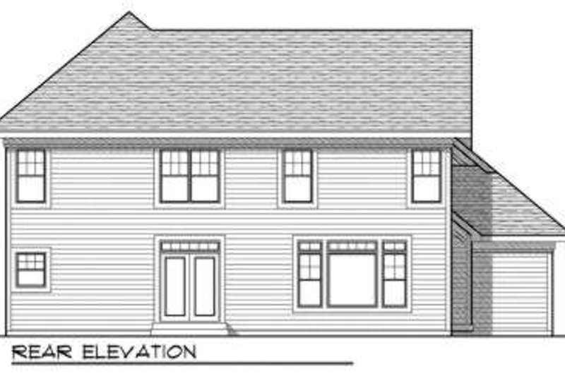 Traditional Exterior - Rear Elevation Plan #70-735 - Houseplans.com