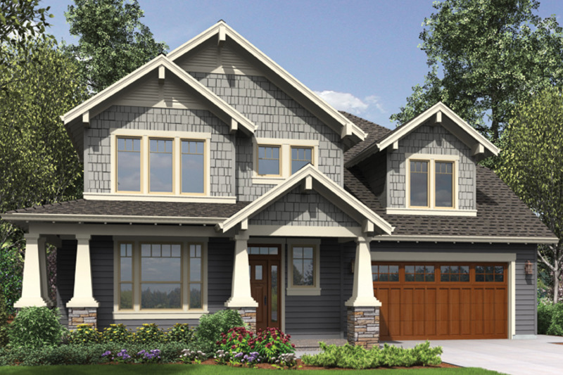 Craftsman Exterior - Front Elevation Plan #48-914 - Houseplans.com