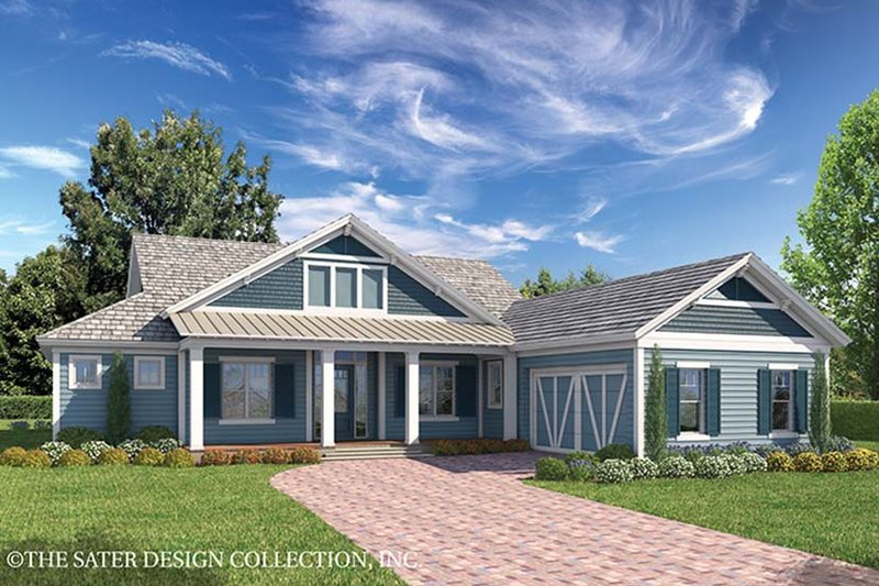 Architectural House Design - Country Exterior - Front Elevation Plan #930-467