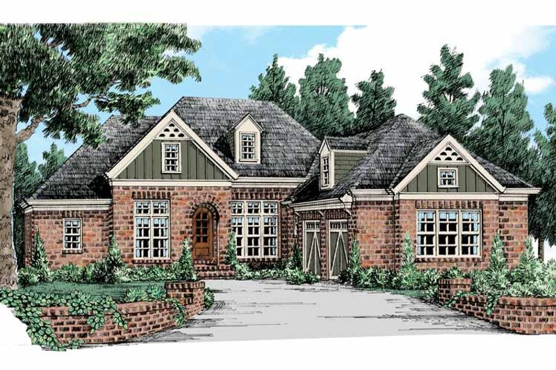 Country Exterior - Front Elevation Plan #927-440 - Houseplans.com