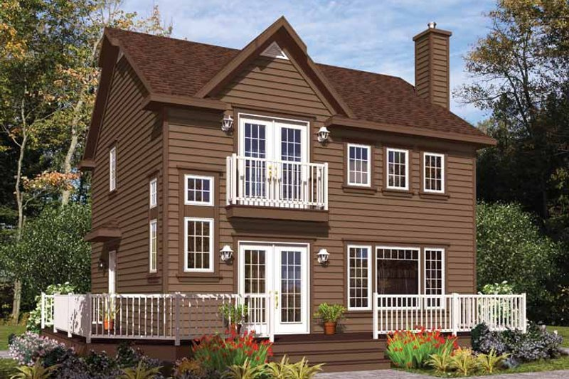European Exterior - Front Elevation Plan #23-2493 - Houseplans.com