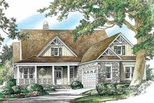 Country Exterior - Front Elevation Plan #929-751