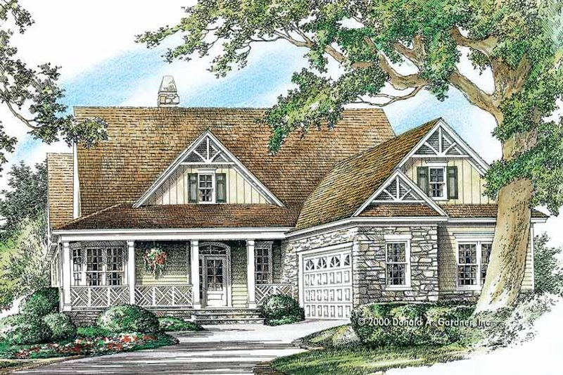 Country Exterior - Front Elevation Plan #929-751 - Houseplans.com