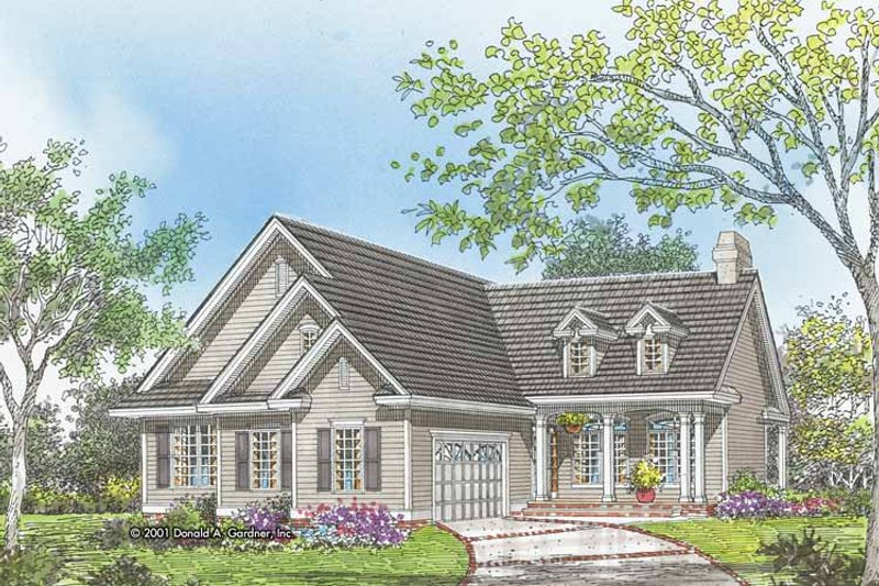 Country Exterior - Front Elevation Plan #929-620 - Houseplans.com