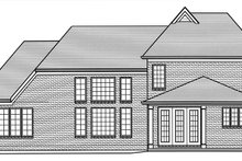 House Plan Design - Cottage Exterior - Rear Elevation Plan #46-865