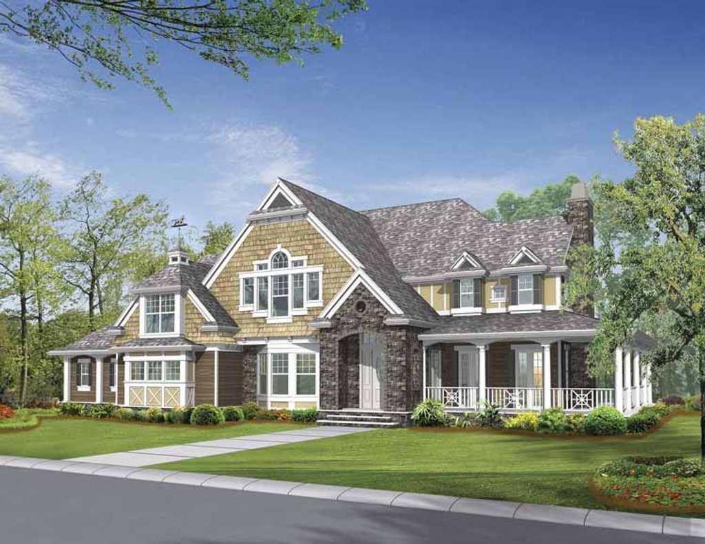 Craftsman style house plan 4 beds 3 5 baths 5045 sq ft for Craftsman vs mission style