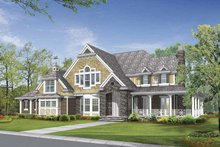 Dream House Plan - Craftsman Exterior - Front Elevation Plan #132-510
