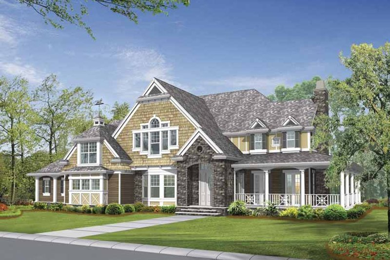 Dream House Plan - Craftsman Exterior - Front Elevation Plan #132-510