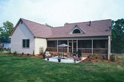 Country Style House Plan - 3 Beds 2 Baths 1724 Sq/Ft Plan #929-577 Exterior - Rear Elevation