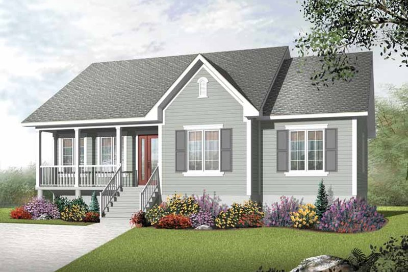 Country Exterior - Front Elevation Plan #23-2400