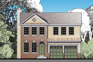 Architectural House Design - Traditional Exterior - Front Elevation Plan #1029-63