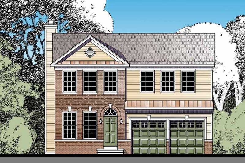Dream House Plan - Traditional Exterior - Front Elevation Plan #1029-63