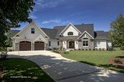 European Style House Plan - 3 Beds 2.5 Baths 2817 Sq/Ft Plan #929-903 Exterior - Front Elevation