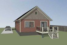 Dream House Plan - Cottage Exterior - Rear Elevation Plan #79-108