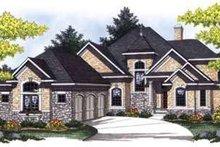 Dream House Plan - European Exterior - Front Elevation Plan #70-849