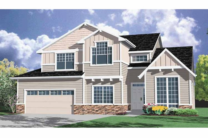 Traditional Exterior - Front Elevation Plan #509-264 - Houseplans.com