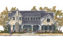 Dream House Plan - Traditional Exterior - Front Elevation Plan #20-1555