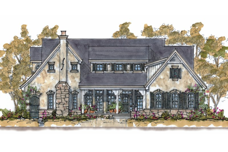Home Plan - Traditional Exterior - Front Elevation Plan #20-1555