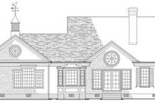 House Plan Design - Country Exterior - Rear Elevation Plan #137-154