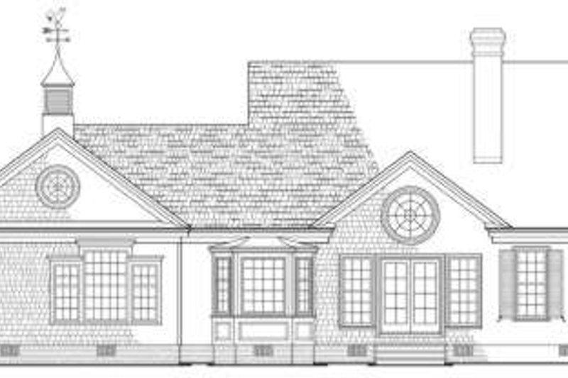 Country Exterior - Rear Elevation Plan #137-154 - Houseplans.com