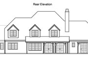 Traditional Style House Plan - 5 Beds 4.5 Baths 4619 Sq/Ft Plan #490-12 Exterior - Rear Elevation