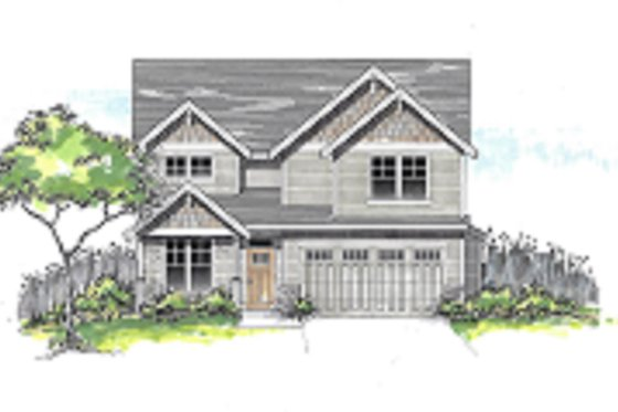 Craftsman Exterior - Front Elevation Plan #53-650