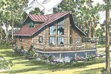 Home Plan - Contemporary Exterior - Front Elevation Plan #124-439