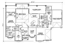 European Floor Plan - Main Floor Plan Plan #5-445