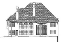 Home Plan - Colonial Exterior - Rear Elevation Plan #119-316
