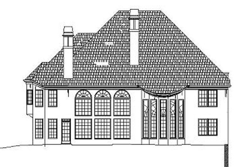 Colonial Exterior - Rear Elevation Plan #119-316 - Houseplans.com