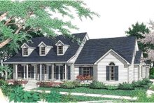 Southern Exterior - Front Elevation Plan #406-175