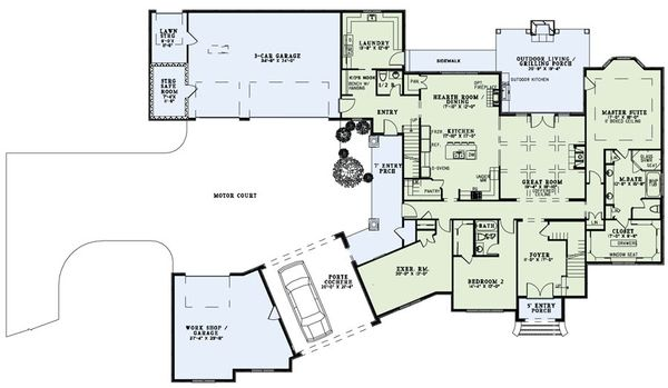 European Floor Plan - Main Floor Plan Plan #17-2489