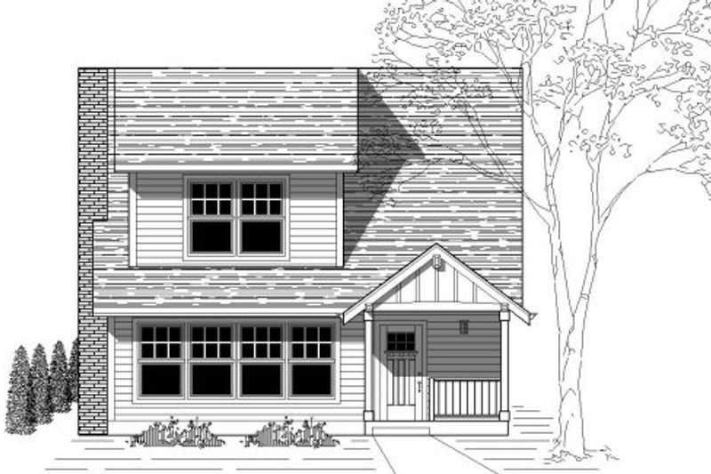 Traditional Style House Plan - 4 Beds 2 Baths 1900 Sq/Ft Plan #423-10 Exterior - Front Elevation