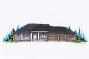 Modern Exterior - Front Elevation Plan #5-141
