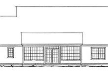 House Plan Design - Traditional Exterior - Rear Elevation Plan #20-382