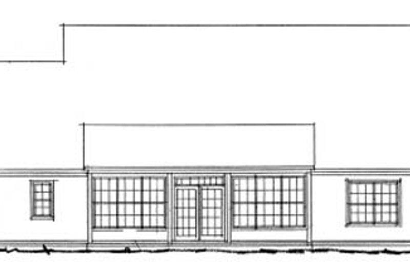 Traditional Exterior - Rear Elevation Plan #20-382 - Houseplans.com