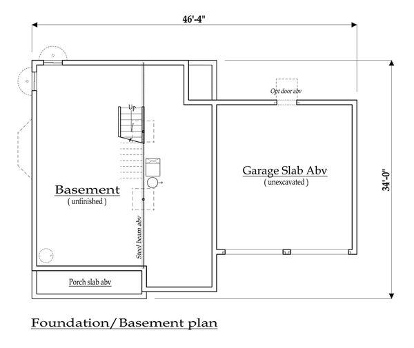 Farmhouse Floor Plan - Lower Floor Plan Plan #459-5