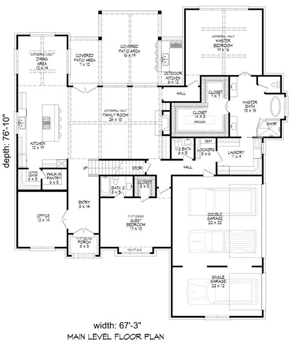 House Plan Design - Country Floor Plan - Main Floor Plan #932-122