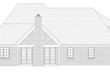 Southern Exterior - Rear Elevation Plan #932-340
