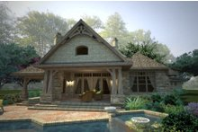 Craftsman Exterior - Rear Elevation Plan #120-178