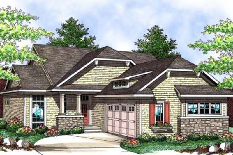 Bungalow Exterior - Front Elevation Plan #70-904