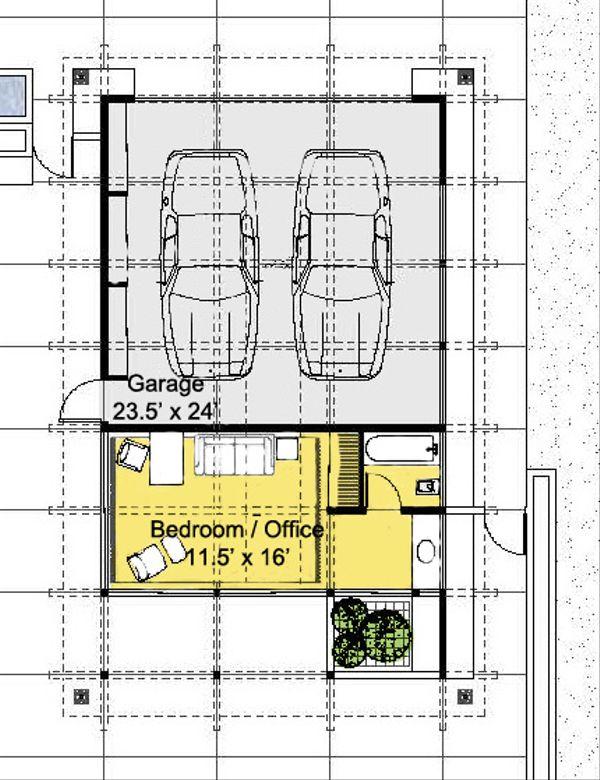 Ranch Floor Plan - Main Floor Plan Plan #544-4