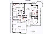 Country Style House Plan - 3 Beds 2.5 Baths 2307 Sq/Ft Plan #414-103 Floor Plan - Main Floor