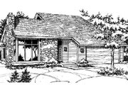 Traditional Style House Plan - 3 Beds 3 Baths 1726 Sq/Ft Plan #320-309 Exterior - Front Elevation
