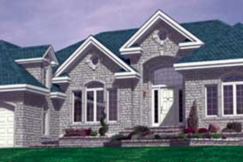 European Style House Plan - 3 Beds 2.5 Baths 2655 Sq/Ft Plan #138-303 Exterior - Front Elevation